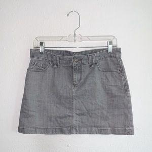 Patagonia Gray Jean Mini Skirt Women's 4